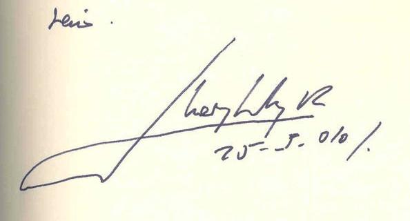 Estudio caligráfico de las firmas de Don Juan Carlos 8