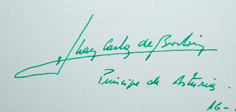 Estudio caligráfico de las firmas de Don Juan Carlos 6