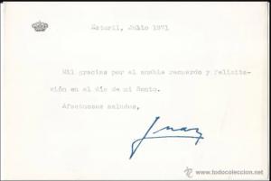 Estudio caligráfico de las firmas de Don Juan Carlos 5